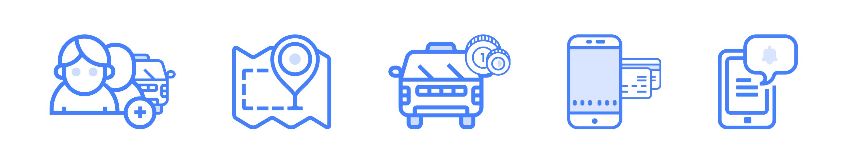 Функциональность мобильных приложений для такси и каршеринга